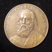Hungary: Rabbi Doctor Meyer Kayserling uniface bronze medal by Jewish medalist Aladar Gardos, 1929; size: 60mm; weight: 72.9g, in VF-EF. Centennial medal commemorating the German R
