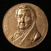 Germany: Hermann Heine Foundation silver medal of Salomon Heine, 1906; by H. Manga; size: 42mm; weight: 28.85g. Obv: bust of Salomon Heine & date