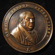 Germany: Hirsch Berend Oppenheimer bronze medal by (Carl Heinrich?) H. Lorenz F., 1868; 45mm, 40.15g: commemorating the Oppenheimer Housing Trust, founded in 1868 to provide subsid