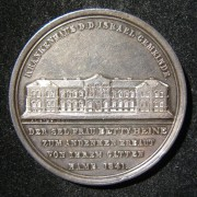Germany: The New Jewish Hospital in Hamburg, 1841; by Hans Friedrich Alsing; silver (large size 45mm), 43.75g. Obv.: hospital w/Ger. leg.