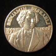 Great Britain: Prime Minister Benjamin D'Israeli silver medal by Colley