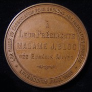 Luxembourg: Madame J. Bloc bronze medal by Oppenheim, 1886