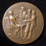 France: Jewish Charitable Society 25th Anniv. medal by Rasumny, 1907