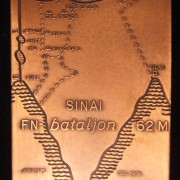 Swedish 62M Battalion in Sinai commemorative service plaque, 1976
