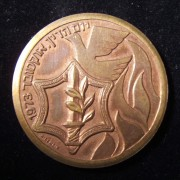 Yom Kippur War/Israeli 25th Independence Day commemorative medal, 1973