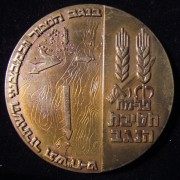 Palmach 'Negev Brigade' memorial monument commem. medal by Shekel, 1968-69