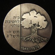 Haganah 'Golani Brigade' 25 year numbered commemoration medal, 1973