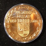Germany (GDR): 775th Anniv. Dessau/Mendelssohn bronze medal (1988)