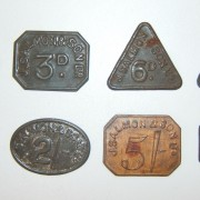 Lot x8 tokens from J. Salmon & Son Ltd. (Jewish?) firm of London