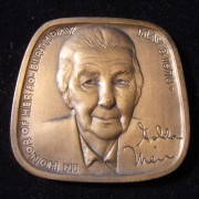 US: Golda Meir 80th Birthday JAHF bronze medal by Wiener (1978)