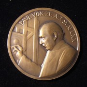 US: Paul Vincze self-portrait birthday bronze medal (1977)