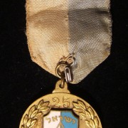 Israel Referee Association medal to M. Chadshoni for 25 years service, 1961