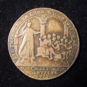 Germany: 'Josefs-Jeton' w/14 line pricelist in brass, 1772 (Brett-1936)
