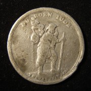 Germany: 'Corn Jew'/horizontal grain sifter medal, 1694, pewter strike
