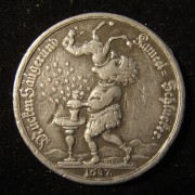 Germany: 'Camel-Swallower' lead medal by Wermuth, 1687