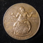 Germany: 1923 'Kornjude' themed bronze medal by Hörnlein