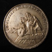 Germany: 'Useless Baptism' bronze medal by Wermuth, c. 1700
