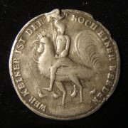 Germany: 'Cuckold Medal'-'Feather Jew' medal by Wermuth, c. 1700, pewter
