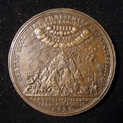 Germany: 'Shabtai Tzvi' bronze medal by Wermuth, 1696