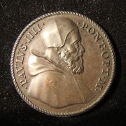Italy: Pope Paul IV bronze medal, 1559; by Federigo Parmensis but not marked; 29.5mm, 12.6g. Obv.: Jesus driving out merchants from the Great Temple; Latin leg.