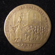 Germany: Joseph & His Brothers inflationary brass Jeton, 1772 (Brett-1931)