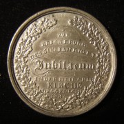 Germany: Deggendorf Church Host Desecration 500th Anniversary pewter medal, 1837; medallist signed (not discernable); size: 43.5mm; weight: 18.4g. Obv. Ger. leg.: