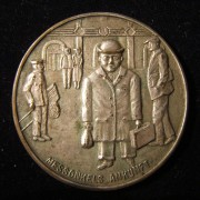 Germany: Leipzig 'Messonkel' medal in silvered bronze, c.1929-30