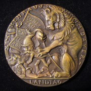 Germany: Kurt Eisner/'Clean Out Bavaria' cast medal by Karl Goetz c. 1920