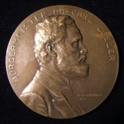 Austria: Carl Lueger Vienna Mayor 60th birthday medal by R.F. Marschall