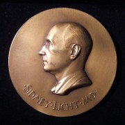 US: Sidney Licht MD 'American Congress of Rehabilitation Medicine' medal, 1968; by Medallic Art Co., designed by Paul Manship, 1886-1966; Forrer listed v8 p. 22-24; size: 76mm; wei
