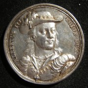 Germany > Bavaria: double-struck silver homage medal commemorating Albrecht (Albert) III der Fromme, Duke of Bavaria-Munich, by Franz Andreas Schega (1711-1787), circa. 1766-70;