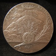 France: Chief Rabbi Moshe Netter silver appreciation medal by Stern, 1901