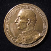 France: 'General Auguste Mercier Judge of the Traitor Dreyfus' medal, 1906