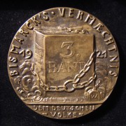 Germany: Bismarck's Memoirs Volume III cast medal by Karl Goetz, 1921