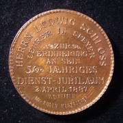 Germany: 50 Years Service bronze appreciation medal to Ludwig Schloss, 1887