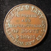 New Zealand: 'Lipman Levy' one Penny copper token by Taylor c. 1857-1880