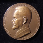 Austria: Professor Heinrich Kautsch bronze commemorative medal by Arnold Hartig, c. 1929; size: 52.5mm; weight: 58.4g. Obv.: left-facing Kautsch; Ger. leg.