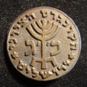 Israel: 23rd Zionist Congress bronze pin, 1951