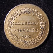 Germany > Bavaria: Souvenir token of the March 1848 revolution, c. 1849; gold gilt bronze; not maker-marked; size: 30mm; weight: 8.7g; thickness: 1.5mm. Obverse: 3-lined German
