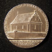Czechoslovakia: 150th Anniv. Patent of Toleration silver medal by Šejnost, 1931