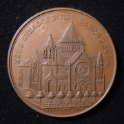 France/Germany: New Synagogue of Strasbourg (Quai Kleber) medal, 1898