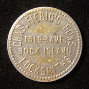 US: Charles Fiebig's & Sons aluminum advertising token