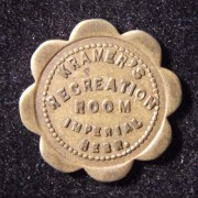 US: Kramer's Recreation Room 5 cent scalloped brass token