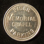 US: Piser Memorial Chapel (Skokie) parking token