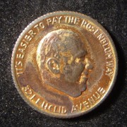 US: Rosenblum clothes shop (Ohio) advertising token, circa. 1936