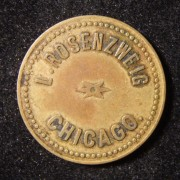 US: L. Rosenzweig 5-Cent Nachtclub? Token aus Messing
