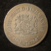 US: Rothschild-Fishman Business $1 Token aus Bronze (?)