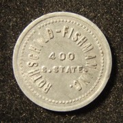 US: Rothschild-Fishman store zinc 5 cent token