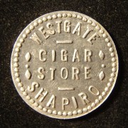 US: Shapiro Cigar Store of Westgate (Ohio?) tin 10 cent token