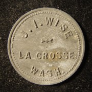 US: J.I.Wise (Washington State) store 25 cent zinc token